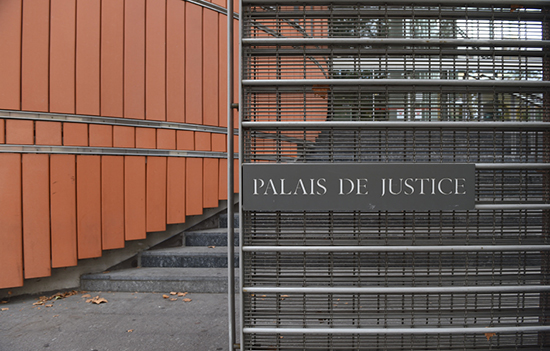Photographie de l'entrée du palais de justice de Toulouse